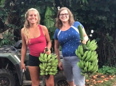 Friend and I with Bananas!